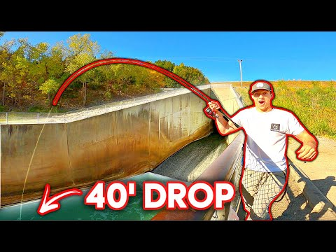 He Hooked The SPILLWAY MONSTER 40' Above The Water!!! (Insane Catch)