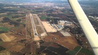 Flying over LEGE / GRO airport in Girona