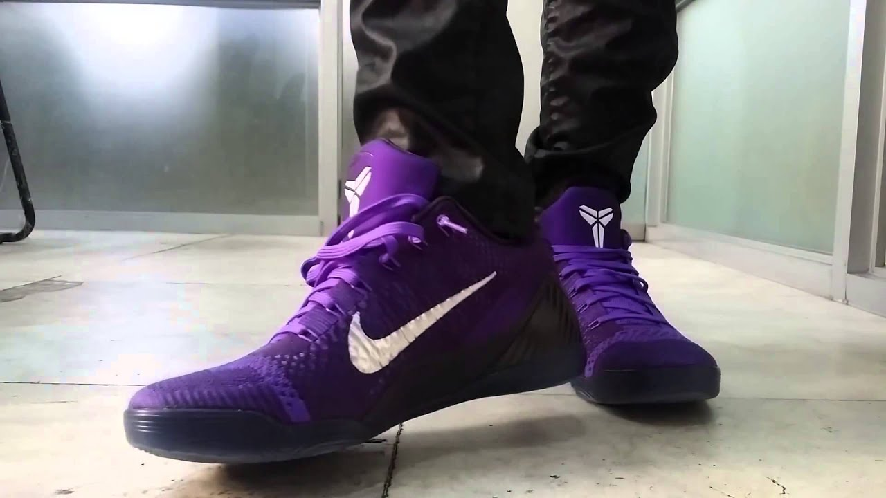 96a3072bdaf9 Nike Kobe 9 Elite Low Michael Jackson Moonwalk Hyper Grape Review On Feet