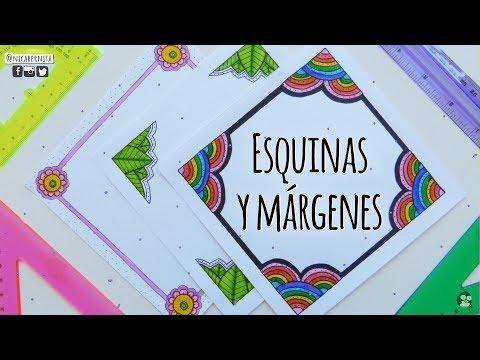 Esquinas Marcos Y Márgenes Para Cuadernos 2 Cómo Hacer