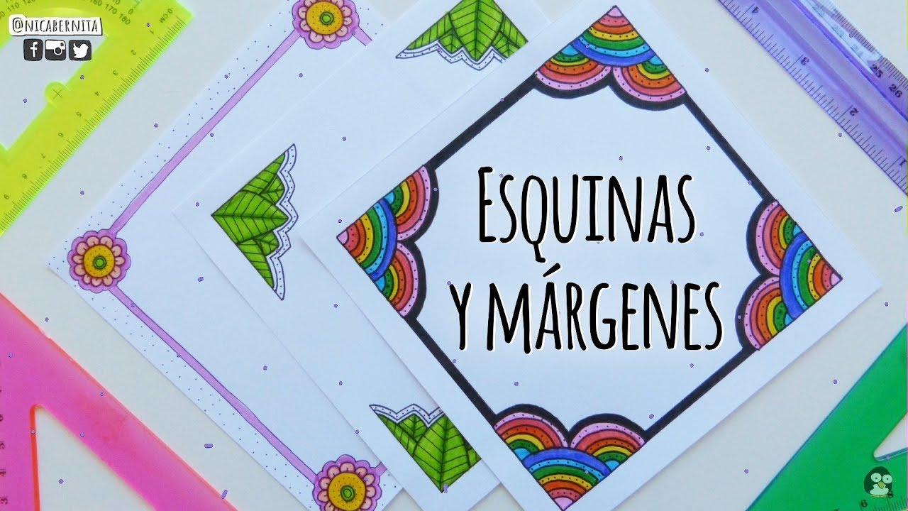Esquinas Marcos Y Margenes Para Cuadernos 2 Como Hacer