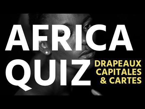 Drapeaux et capitales des pays de l'Afrique - Global