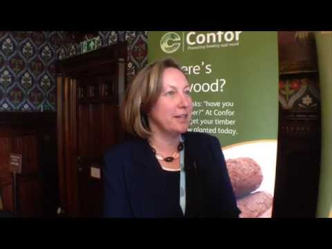 Vice Chair Anne-Marie Trevelyan MP speaking at the All Party Parliamentary Group on Forestry