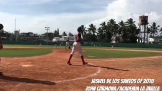 Jaswel De Los Santos OF 2018, Home Run TryOut San Diego