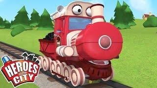 Heroes of the City - The Train Adventure   Cartoons for Kids   Kids Cartoons   Car Cartoons