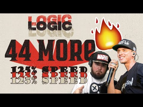 RAPPING LOGIC'S 44 MORE *FASTER* THAN LOGIC (FIRST SPED UP COVER OF LOGIC'S 44 MORE)