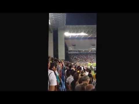 Arena Pantanal Abertura Hino Nacional Mixto x Santos