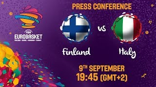 Finland v Italy - Round of 16 - Press Conference - FIBA EuroBasket 2017
