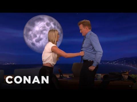 Lindsey Vonn Gives Conan A True Ab Test  - CONAN on TBS