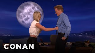 Lindsey Vonn Gives Conan A True Ab Test  - CONAN on TBS