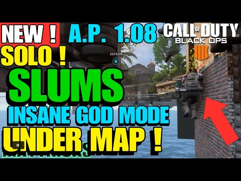 BO4 GLITCH *NEW* SLUMS INSANE GOD MODE WALLBREACH UNDER THE MAP PS4 XB1 PC AFTER PATCH 1.06