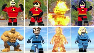 The Incredibles Vs. Fantastic Four in LEGO Videogames