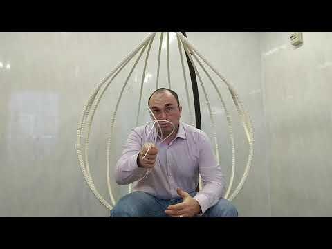 Часть 2.Плетение подвесного кресла кокона своими руками искусственным ротангом.