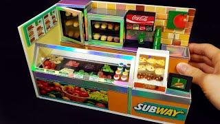 DIY Miniature Shop  - Subway shop decor !! sandwich toppings , cookies ~