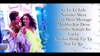 Hook Up Song Lyrics Student Of The Year 2 Tiger Shroff Tara Ananya Neha & Shekhar।