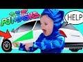 PJ Masks CATBOY STUCK! Catboy TRICKS GEKKO Superhero Full Episodes