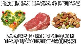 🥙  Животный и растительный белок: мифы и заблуждения сыроедов и традиционно питающихся