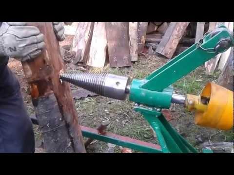 Łuparka do drewna z napędem WOM