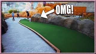 UNBELIEVABLE SHOTS AT ONE OF THE HARDEST MINI GOLF COURSES WE'VE EVER SEEN! | Brooks Holt