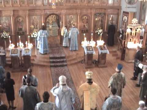 Pokrov 2015 Liturgy at the Diocesan Cathedral  with Metropolitan Phillip  and Archbishop Peter