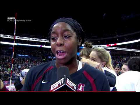 Stanford v Texas, 2016 NCAA Women's Volleyball Championship, Match Point