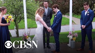 Teen given months to live marries high school sweetheart