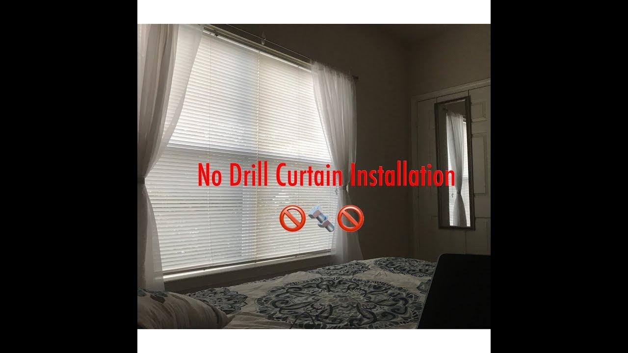 No Drill Curtain Installation