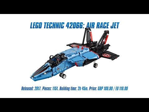 LEGO Technic 42066: Air Race Jet Unboxing, Speed Build & Review [4K]