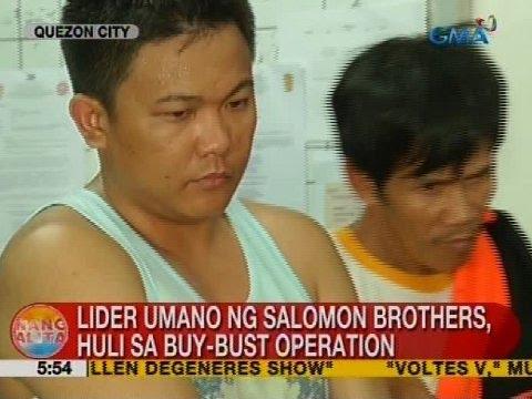 UB: Lider umano ng Salomon brothers, huli sa buy-bust operation