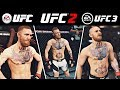 EA SPORTS UFC vs UFC 2 vs UFC 3 | Side by Side Gameplay Comparison