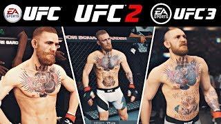 EA SPORTS UFC vs UFC 2 vs UFC 3 | Side by Side Gameplay Comparison