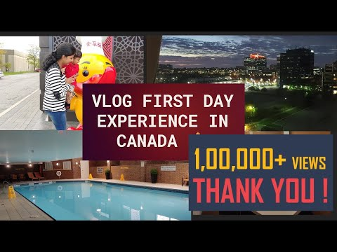 vlog-|-first-vlog-from-canada-🍁-|-hotel-room-tour-|-first-day-experience