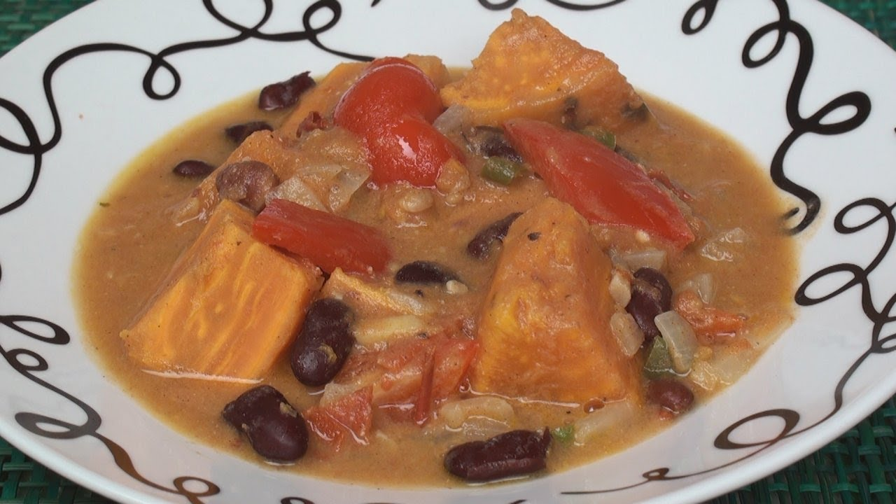 African Sweet Potato Stew Recipe for ONE