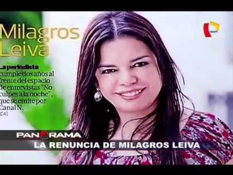 Despiden a Milagros Leiva de Canal N y América TV Dom Sept 13 2015