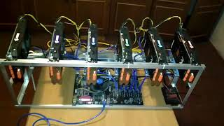 Продам майнинг фермы 4шт. на видеокартах Gigabyte gaming rx570 и aorus rx580 4gb, сборка настройка.