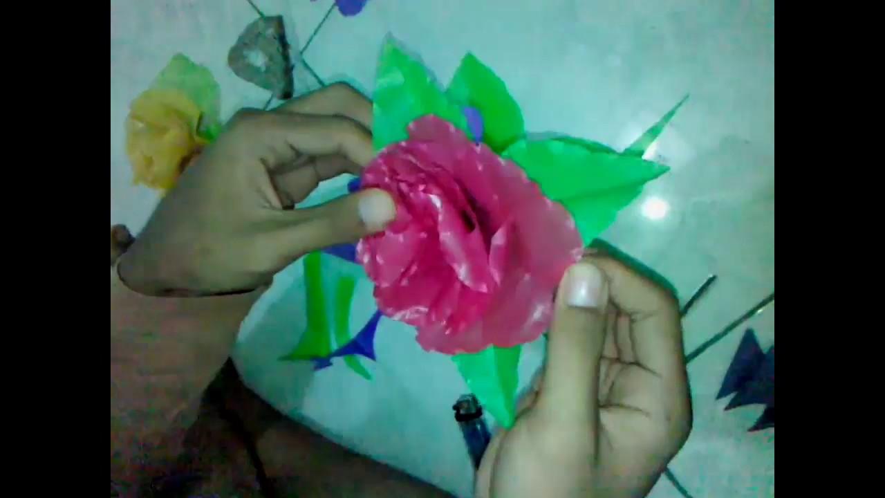 Cara Membuat Bunga Dari Plastik - YouTube 457b0e0dd5