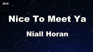 Nice To Meet Ya - Niall Horan Karaoke 【No Guide Melody】 Instrumental