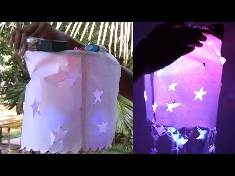 Diy Paper Fancy Light | V4 Malayalam Tech