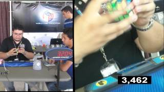 3x3 Official Single 12.34 NR Oscar Ceballos Rubik Venezuela @ Rep. Dominicana Open 2013