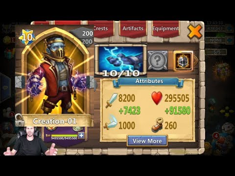 Creation-01 GAMEPLAY Double Evolved IS HE A BEAST? Castle Clash