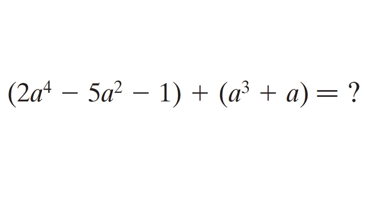Addition de polynômes - Exercice d'algèbre - Mathématiques ...