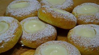 БУЛОЧКИ Сметанники или Ватрушки со Сметанным Кремом | Buns with sour cream