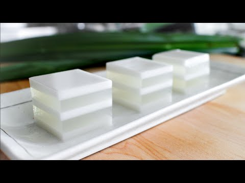 Coconut Jelly Duo Recipe วุ้นกะทิ - Hot Thai Kitchen!