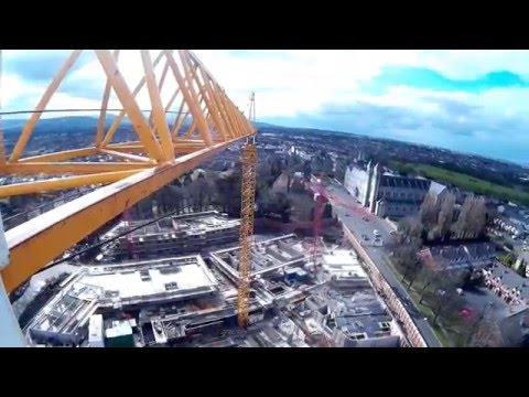 Spinning the crane and camera around Mt Argus Dublin