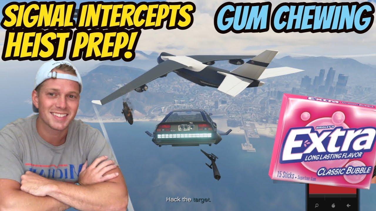 ASMR Gaming: GTA V | The Data Breaches Heist Prep: Signal Intercepts - Gum Chewing & Whispering