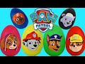 paw patrol nickelodeon play doh surprise eggs toys with chase marshall rubble tuyc