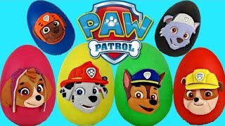 PAW PATROL Play Doh Surprise Eggs Toys with Chase & Marshall | Toys Unlimited