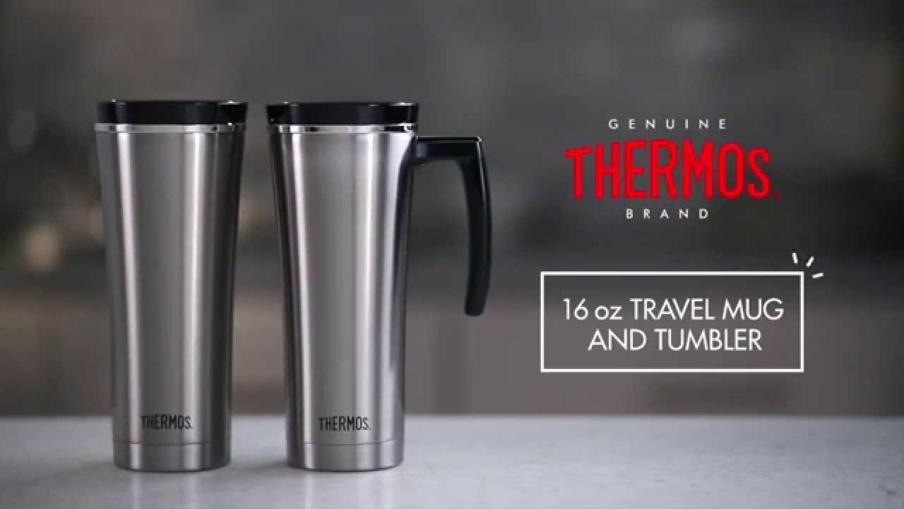d75de7e457 16 oz Vacuum Insulated Travel Mug and Tumbler - YouTube