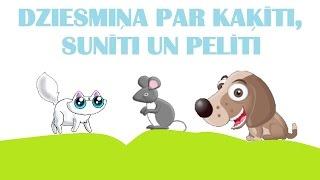 Kā runā dzīvnieki - kaķītis, sunītis un pelīte. 1.daļa.