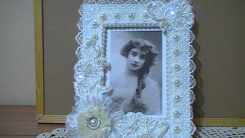 Shabby Chic altered photo frame Trash to Treasure Challenge on The ...
